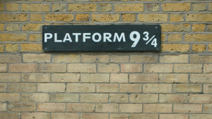 Platform 9 and 3/4 at Kings Cross Station in London. Photo by Jenny Rollo http://www.sxc.hu/profile/buzzybee