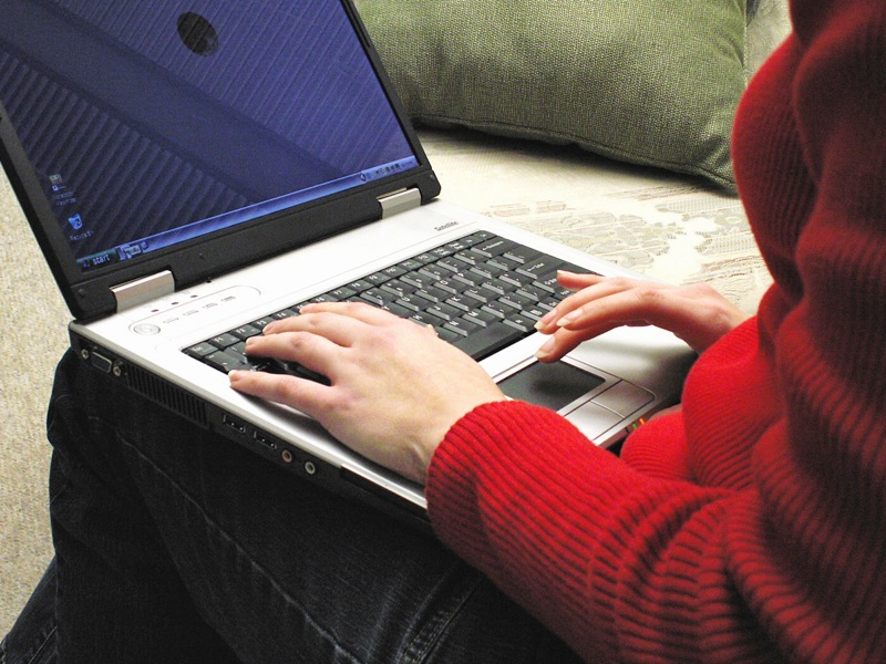 writer writing