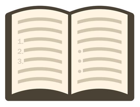 Book icon, modern flat icon